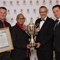 Johan Ludolf (Parmalat SA), Selwyn Claassen (Parmalat SA), Johan Ehlers (Agri-Expo CEO), Eugene Swartz (Parmalat GM). Image Supplied