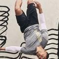 H&M's New Routine sportswear campaign featuring graffiti artist Revok's unauthorised artwork in the background. © H&M