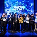 Winners of the Wan-Ifra European Digital Media Awards, in Copenhagen on 10 April 2018. Image supplied.