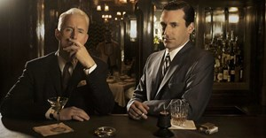 Mad Men's Roger Sterling (John Slattery) and Don Draper (Jon Hamm). © AMC.