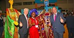 Western Cape Minister of Economic Opportunities, Alan Winde, alongside James Vos, MP Shadow Minister of Tourism at WTM Africa in 2017