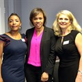 Queen Mjwara, KZN chairperson of the Women's Property Network with Boni Mchunu, East Coast Radio GM, and Eileen Sammons of Evolve Furniture and Fitout - sponsor of the regional event.