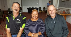 L-R: Dewald Nieman, Eastern Cape Chapter Chairperson; Nelson Mandela Bay Tourism CEO, Mandlakazi Skefile and SATSA Chief Executive Officer, David Frost at the recent Eastern Cape chapter meeting and conference venue site inspections.