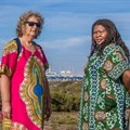 Makoma Lekalakala, director for Earthlife Africa, and Liz McDaid, climate change coordinator for Southern African Faith Communities' Environment Institute (SAFCEI)