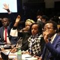 African youth participate at an international youth forum at the UN headquarters in New York. Photo: Africa Renewal/Shu Zhang
