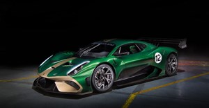 The Brabham BT62 weighs in at a mere 972 kilograms and has a huge 5.4-litre V8 that outputs 522 kW and 667Nm of torque (Credit: Brabham)