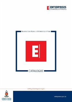 First-of-its-kind combined Training Solutions and Research Solutions catalogue published by Enterprises University of Pretoria