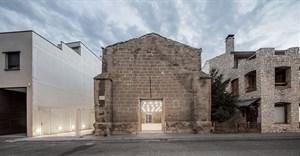 The Ancient Church of Vilanova de la Barca, Lleida, Spain by AleaOlea architecture & landscape. Image © Adria Goula