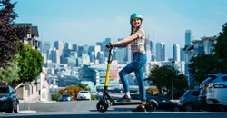 Skip's scooters will be dockless, powering around the city at up to 29 km/h on a 36 V 350 W hub motor