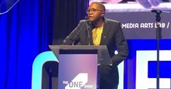 Dyeshana 'representing Wakanda' at the 2018 One Show Awards.