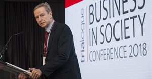 Nick Rockey speaking at Trialogue's eleventh annual Business in Society Conference