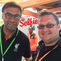 Schoderer randomly running into one of his idols, German coach Jürgen Klopp, at the Facebook head office in Menlo Park, California.