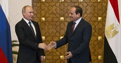 Egyptian President Abdel Fattah al-Sisi Russian President Vladimir Putin. Egypt seems likely to be the next African country with nuclear energy. EPA