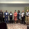 IREM swears in internationally certified commercial property managers n Joburg. CPM instructor Fred Prassas also pictured here.