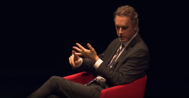 Screengrab from the Jordan Peterson 'difficulties of creative people' interview.