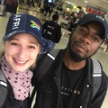 Publicis Johannesburg's Kaylee Germann and Prince Zwane, leaving for Cannes to take part in the global Young Lions film challege.