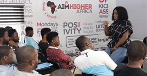 Peace Hyde opens the AHA Skills Acquisition Centre in Lagos. Image supplied.