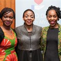L to R: Emilar Gandhi, Public Policy Manager SADC at Facebook Africa; deputy minister of communications, Pinky Kekana; Ebele Okobi director of public policy Facebook, Africa; Sherry Dzinoreva, public policy programs manager Facebook EMEA. © Strike A Pose Photography.