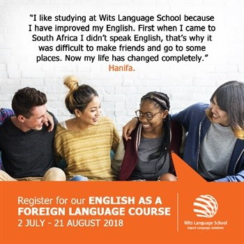 Wits Language School's EFL course - Learning English in South Africa