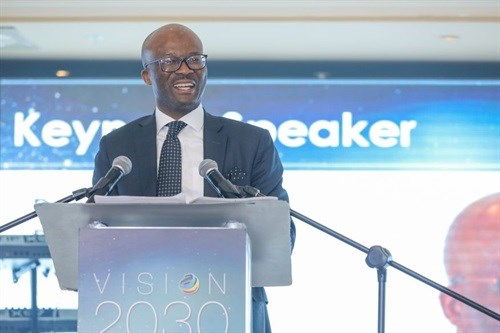 Dondo Mogajane Director General of National Treasury at the Vision 2030 Awards - 2018