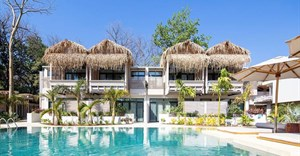 Dilapidated house converted into tropical hotel in Costa Rica