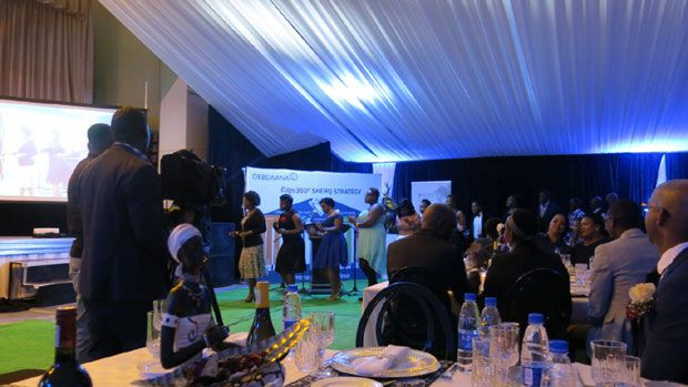 Members of the Jwaneng Mine Hospital Choir file in for a medley of wonderful harmony.