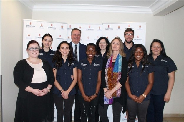 2018 UP Campus Tours team with Ms Charlene Herselman (Lecturer in the Department of Historical and Heritage Studies), Prof Karen Harris (Professor in the Department of Historical and Heritage Studies and Director, UP Archives) and Mr Deon Herbst (CEO, Enterprises UP).