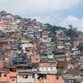 Slums in Caracas, Venezuela.