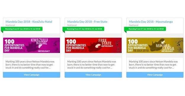 #Mandela100: 100 volunteering opportunities across SA