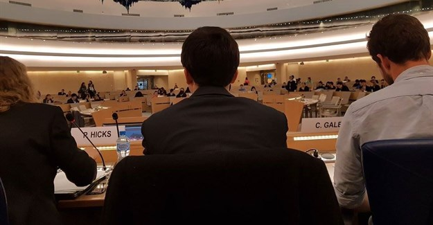 Members of Stop Funding Hate were invited to the United Nations in Geneva to talk about the role of business in tackling xenophobia. © .