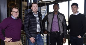 L-R: Wouter de Vos, CEO, Atterbury Property Fund; Rian Reyneke, CEO, Ithemba; Tebogo Mogashoa , group chairman, Talis Property Fund; and Carel Kleynhans, executive director, Ithemba