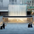 Dramatic glass fountain added to new Milan Apple store