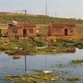These RDP houses in Joe Slovo flood regularly. Photo: Joseph Chirume