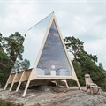 Robin Falck built this zero-emissions cabin that can be installed anywhere