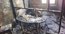 An alleged arson attack on Cameroon's Sky FM gutted the private community radio station in the Northwest Region town of Ndu destroying equipment, furniture, and the studio. Credit: Barnard Tata Gibip/CPJ Africa.