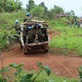 The United Nations Stabilisation Mission in the Democratic Republic of the Congo conducts a patrol in the Ituri Province. UN Photo/Michael Ali.