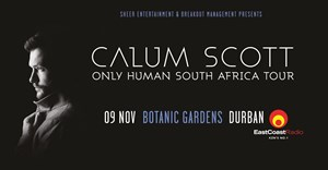 Calum Scott adds Durban stop to SA tour