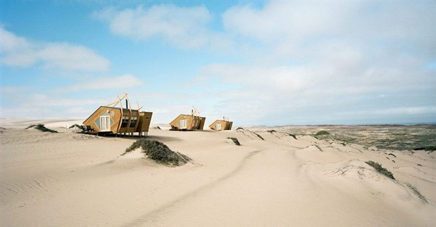 Nina Maritz Architects completes shipwreck-themed timber cabins in Namibia