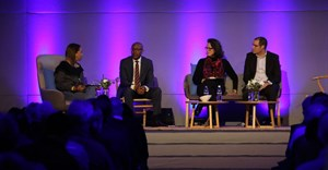 Ferial Haffajee, Ann Crotty, Mzwanele Manyi, Steven Nathan on the panel at #10XDMGathering. © .