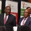 President Cyril Ramaphosa and Health Minister, Aaron Motsoaledi