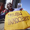 A supporter of Uhuru Kenyatta after the Kenyan president's ICC charges were dropped in December, 2014. Daniel Irungu/EPA
