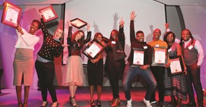 Ask Afrika Icon Brands Top 10 winners on stage. Image supplied.