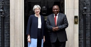 President Cyril Ramaphosa held a bilateral meeting with the UK Prime Minister Theresa May earlier this year. Image source: