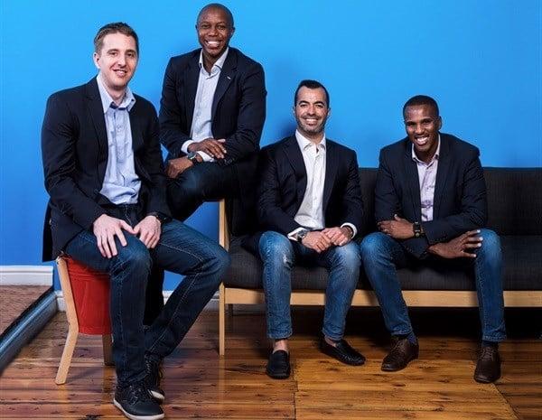 Yoco founding_L-R: Bradley Wattrus, Katlego Maphai, Carl Wazen and Lungisa Matshoba