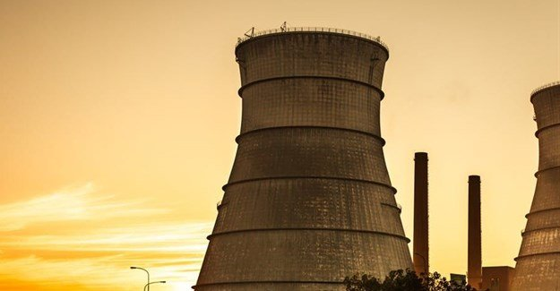 South Africa is the only African country that has nuclear power. The Koeberg nuclear reactor cooling tower. Shutterstock