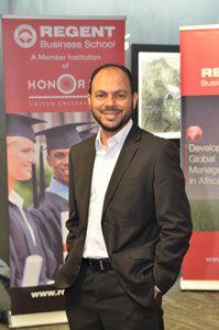 Dr Ahmed Shaikh, Managing Director of Regent Business School