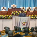 Democratic Republic of Congo President Joseph Kabila delivers a state of the nation speech in Kinshasa on July 19, 2018. Authorities in the DRC jailed a journalist for criminal defamation on September 6. Credit: AFP/Junior D. Kannah/CPJ.