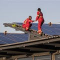 Rooftop solar installation at Black River Park in Cape Town