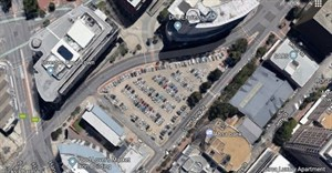 Site B is currently a parking lot on the Foreshore, as shown in the above image captured from .