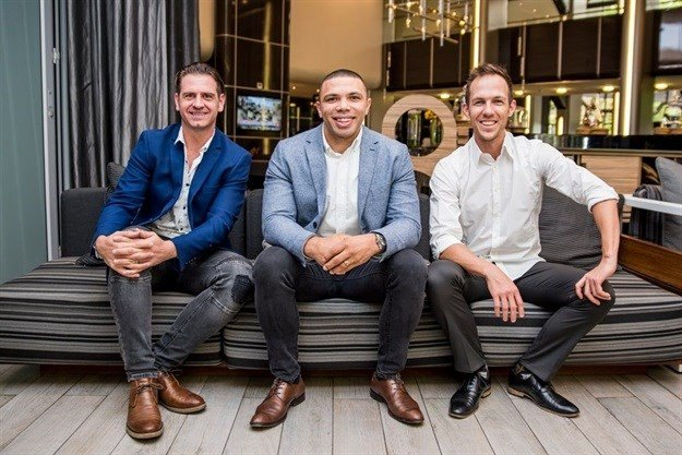 Mike Sharman, Bryan Habana and Ben Karpinski.